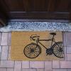 Biciklis lábtörlő, kókuszrost, 40x60 cm