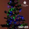 BigBuy Christmas Színes Karácsonyi Fényfüzér (560 LED)
