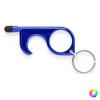 BigBuy Gadget Higiénikus ajtónyitó kulcstartó 146697 Ezüstszínű