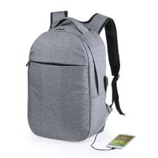 BigBuy Outdoor Hátizsák Laptophos és Tablethez USB kimenettel RFID 146215 Szürke hátizsák