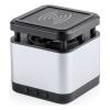 BigBuy Tech Bluetooth hangszóró Qi vezeték nélküli töltővel 3W Usb 146146 Ezüst színű