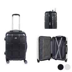 BigBuy Travel Közepes méretű bőrönd Viro (67 x 43 x 27 cm) Fehér
