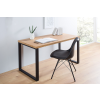 Bighome.hu Písací stôl DELA 128 cm - čierna, prírodná
