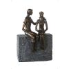 Bighome.hu Socha FRIENDSHIP 23 cm - bronzová
