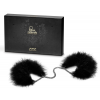 Bijoux Indiscrets Exkluzív tollas bilincs - fekete