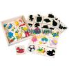 Bino Toys Fa fejlesztő árnyékilllesztő játék 40db-os