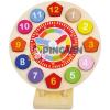 Bino Toys Színes fa formaillesztős óra