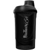 BioTech Neon Wave shaker 600 ml (fekete) (1 db)