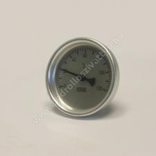 Biterm (magyar) Bimetál hőmérő 0 +120˚C-os, 200mm-es, frontgyűrűs mérőműszer
