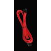 Bitfenix 4-Pin ATX12V hosszabbító 45cm - piros / fekete