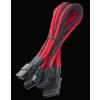 Bitfénix Bitfenix Molex 3x Molex Adapter 55cm - fekete / piros / fekete