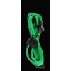 Bitfénix Bitfenix Molex 4x SATA adapter 20 cm - zöld / fekete