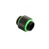 Bitspower Adapter 2xG1/4 - matt fekete, hosszú