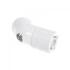 Bitspower Csatlakozó 45° G1/4, 11/8 mm - fehér, forgatható