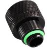 Bitspower Csatlakozó G1/4, 19/13 mm - matt fekete, forgatható