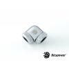 Bitspower Multi-Link Adapter Silver Shining Enhance 90°  G1/4