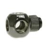 Bitspower Q-adapter 3xG1/4 - fényes fekete, forgatható