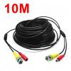 Biztonsági kamera kábel 10m FEKETE