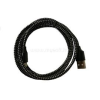 BlackBird Lightning Adatkábel 1m, Fekete 2A (Extra erős anyagból) (BH194_BLACK)