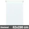 Blackout roló, fehér, ajtóra: 82x230 cm