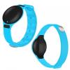 Bluetooth csuklópánt, aktivitást mérő karkötő, cseppálló, kék