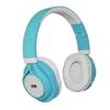 Bluetooth headset, ART AP-B04, sztereó fejhallgató mikrofonnal, fehér-kék, bliszteres