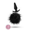 Blush Pom Plugs Fur Pom Pom Black