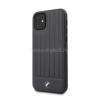 BMW iPhone 11 csíkos kék kemény bőrtok (BMHCN61POCNA)