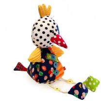 Bobobaby patchwork csörgő plüss játék - Csirke plüssfigura