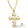 Boccadamo Jewels - aranyozott bronz nyakék - Cross