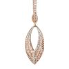 Boccadamo Jewels - ezüst nyaklánc -Chevron-rózsa arany