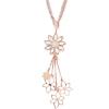 Boccadamo Jewels - Swarovski kristályos bronz nyakék - Virágos rózsa arany