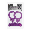 BONDX METAL CUFFS & LOVE ROPE SET-PURPLE T