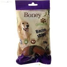 Boney Bacon Strips 150 g jutalomfalat kutyáknak