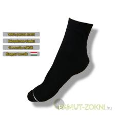 Bordás boka zokni - fekete 39-40