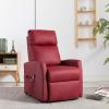 Bordó dönthető és emelhető elektromos fotel