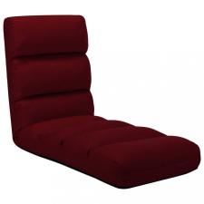 Bordó összecsukható műbőr padlómatrac bútor