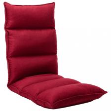 Bordó összecsukható szövet padlómatrac bútor