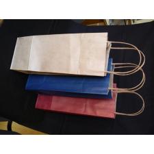 Bortartó papírtasak, 2-es, sodortfüles, natúr tasak