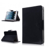 Bőrtok, Huawei Mediapad  / Archos / Overmax / DPS, univerzális 7 coll, mappa tok, fekete, gumis