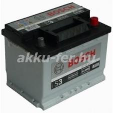 Bosch S3 12V 56Ah Jobb+ akkumulátor autó akkumulátor