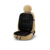 Bottari Embroidery ülésvédő, fekete, szürke varrással