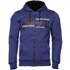 BOWIE MESH ZIPPED HOODIE - NAVY BLUE (NAVY BLUE) [4XL] férfi pulóver, kardigán