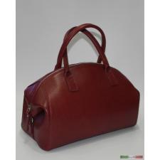 Bowling fazonú bordó bőrtáska kézitáska és bőrönd
