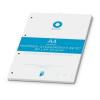 BOXER A4 kockás 50 lapos fehér gyűrűskönyv betét
