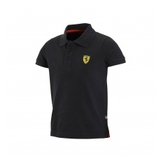Branded Ferrari gyerek galléros póló Classic black big logo F1 Team 2016 - 104 cm (kids)