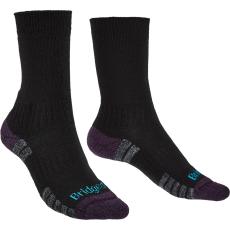 Bridgedale Női zokni Bridgedale Hike LW MP Boot Zokni mérete: 38-40 / Szín: fekete/lila