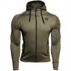 BRIDGEPORT ZIPPED HOODIE - ARMY GREEN (ARMY GREEN) [XL]
