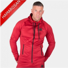 BRIDGEPORT ZIPPED HOODIE - RED (RED) [S]