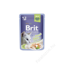 Brit Premium Cat tasakos Delicate Fillets in Jelly with Salmon 85g macskaeledel